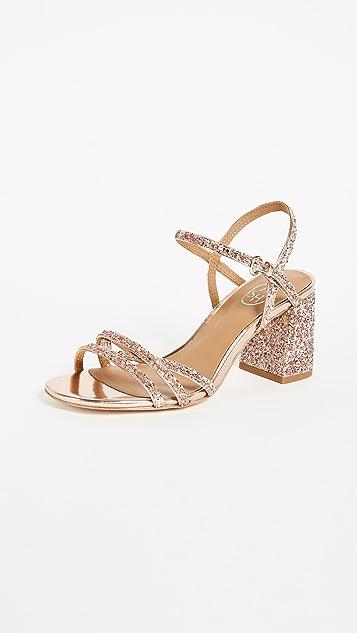 Ash Sparkle Sandals - Blush/Rose Gold