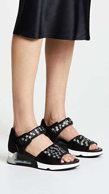 Ash Lotus Star Sandals