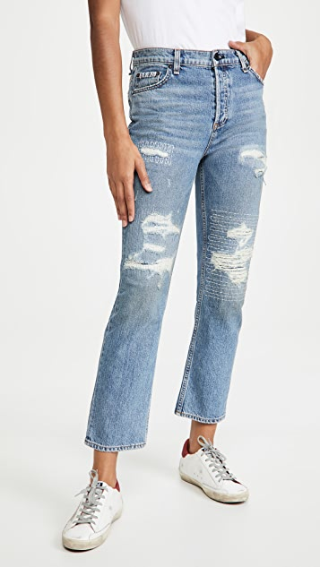 ASKK NY High Rise Straight Jeans