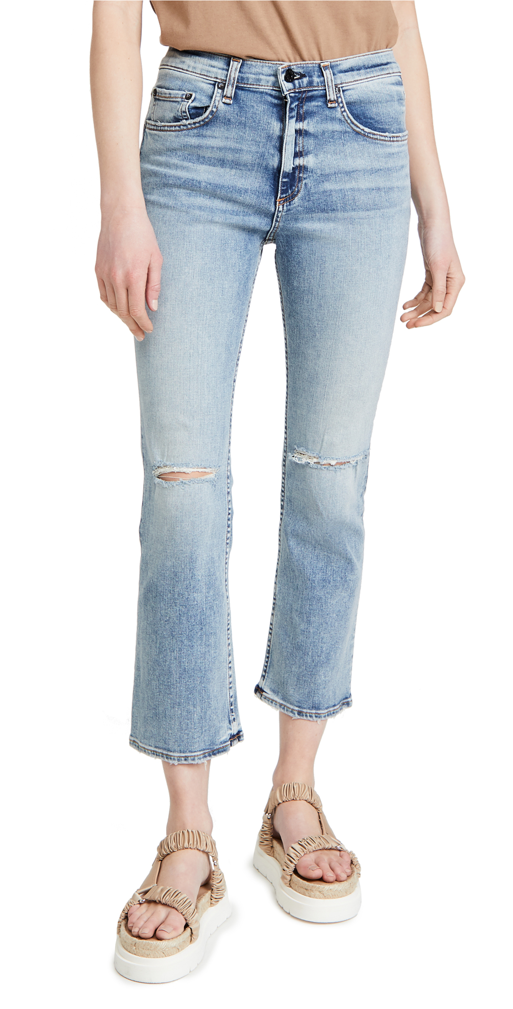 ASKK NY High Rise Crop Bootcut Jeans
