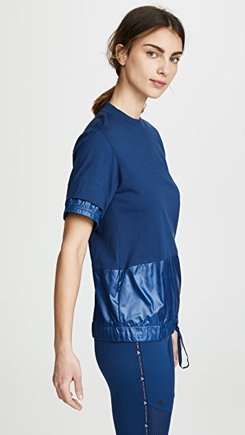adidas by Stella McCartney Футболка с округлым вырезом
