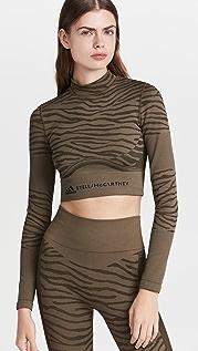 adidas by Stella McCartney Asmc Truepurpose 无接缝瑜伽短版上衣