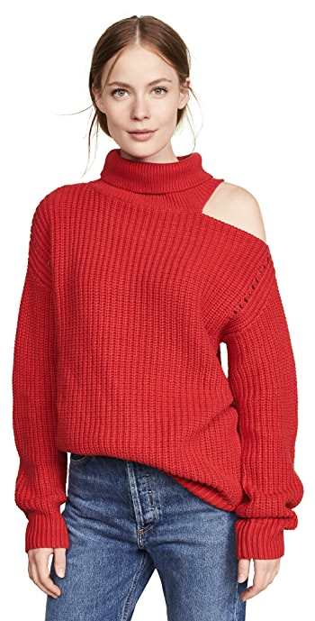 ASTR the Label Sepulveda Sweater - Cherry Red
