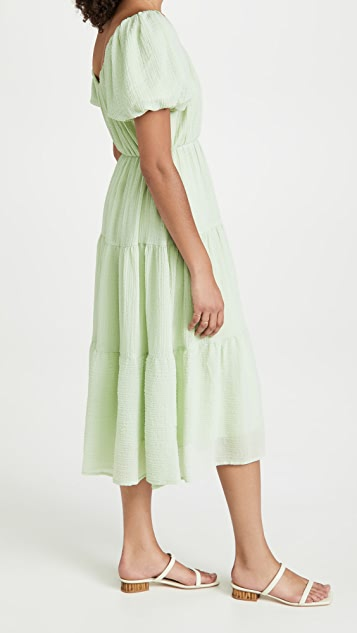 ASTR the Label Smocked Tiered Maxi Dress