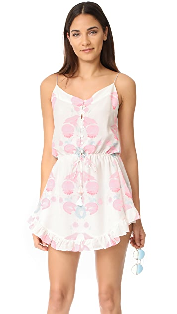 Athena Procopiou Twilight's Love Flowers Short Spaghetti Dress
