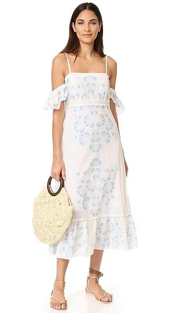 Athena Procopiou Morning Mist Off Shoulder Dress
