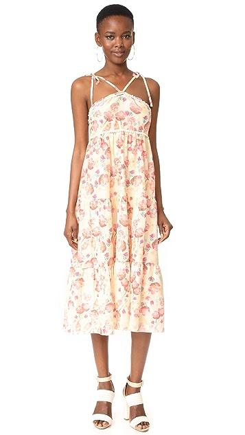 Athena Procopiou Poppy in Love Tiered Dress with V Straps