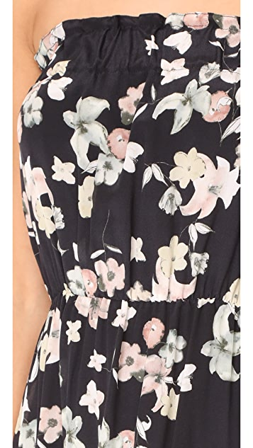 Athena Procopiou Wild Grace Short Strapless Dress with Pom Poms