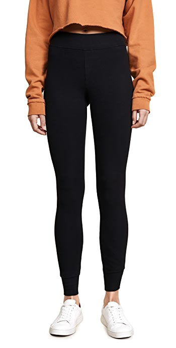 ATM Anthony Thomas Melillo Long Micromodal Yoga Pants - Black