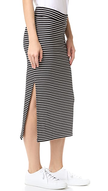 ATM Anthony Thomas Melillo Striped Rib Skirt