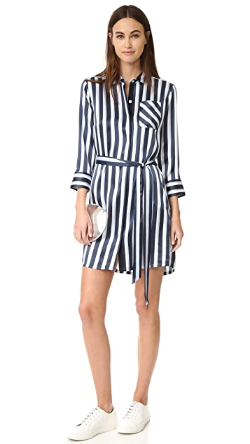 ATM Anthony Thomas Melillo Striped Shirtdress
