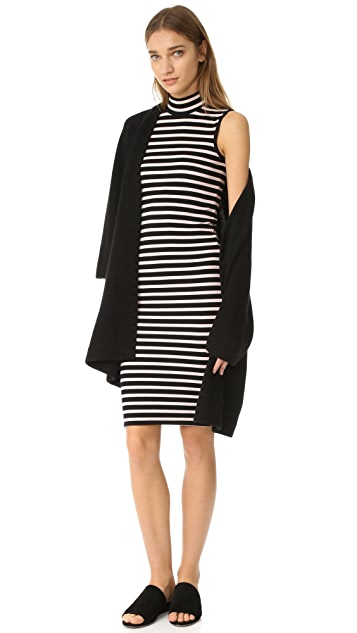 ATM Anthony Thomas Melillo Modal Rib Sleeveless Stripe Dress