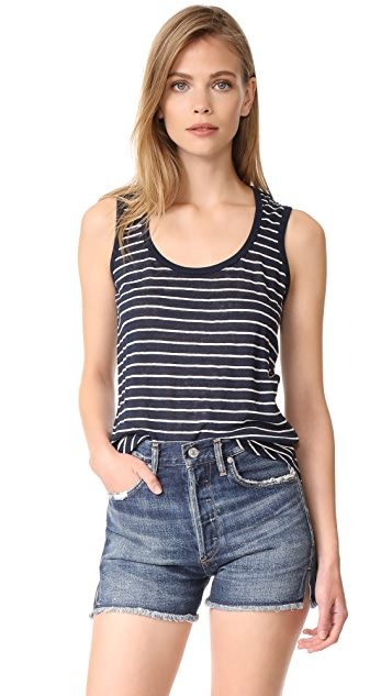 ATM Anthony Thomas Melillo Linen Jersey Sweetheart Tank