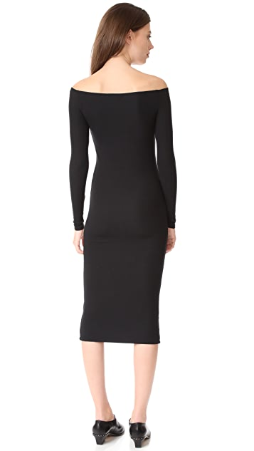 ATM Anthony Thomas Melillo Modal Rib Off the Shoulder Dress