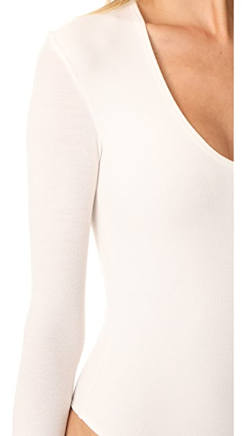 ATM Anthony Thomas Melillo Modal Rib U Neck Bodysuit