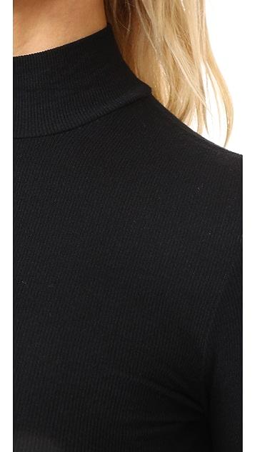 ATM Anthony Thomas Melillo Long Sleeve Mock Neck Top