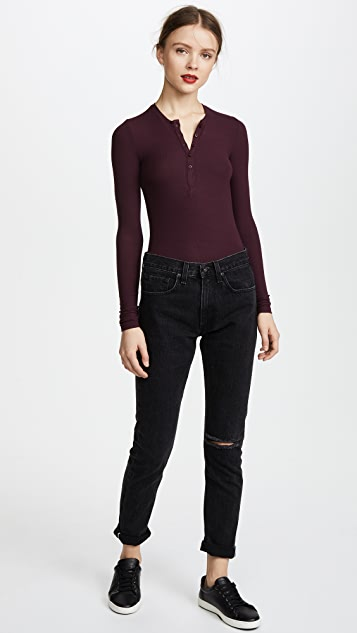 ATM Anthony Thomas Melillo Modal Rib Henley