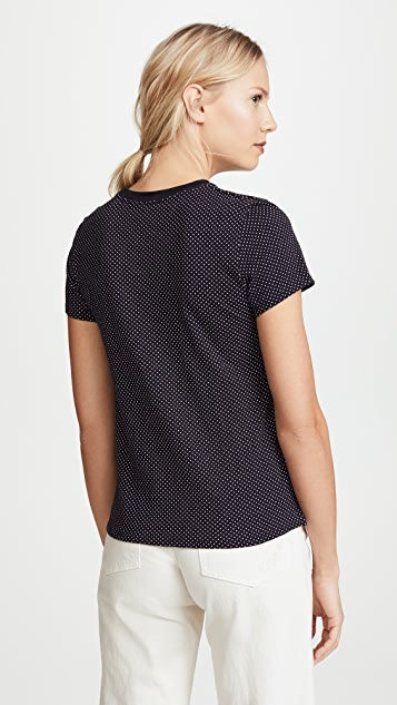 ATM Anthony Thomas Melillo Dot Pocket Tee