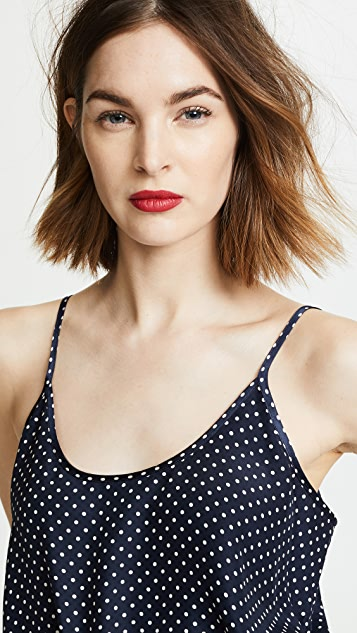 ATM Anthony Thomas Melillo Silk Polka Dot Cami