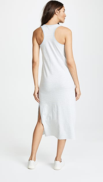 ATM Anthony Thomas Melillo Striped Racer Back Dress