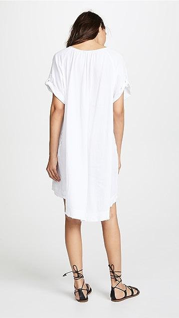 ATM Anthony Thomas Melillo Gauze V Neck Dress