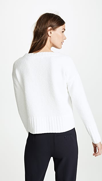 ATM Anthony Thomas Melillo Chenille V Neck Sweater