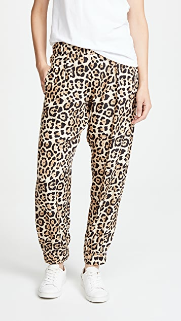 ATM Anthony Thomas Melillo Leopard Print Silk Pants