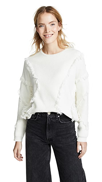 ATM Anthony Thomas Melillo Fringe Sweater