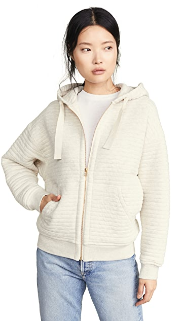 ATM Anthony Thomas Melillo Quilted Zip Up Hoodie