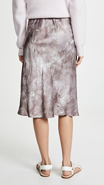 ATM Anthony Thomas Melillo Tie Dye Silk Pull On Skirt