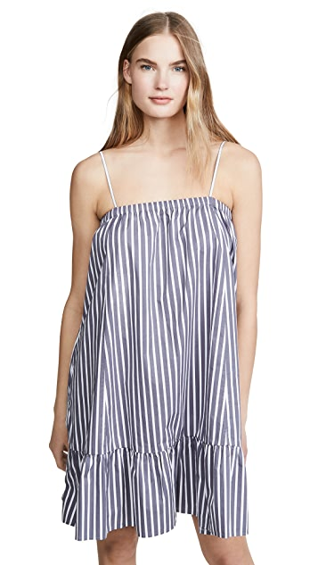 ATM Anthony Thomas Melillo Cotton Poplin Stripe Tent Dress