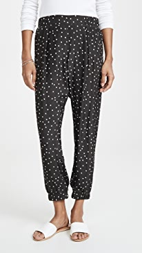 Silk Polka Dot Pants