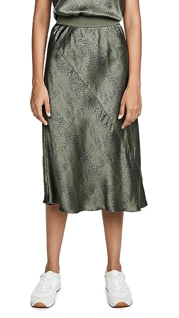 ATM Anthony Thomas Melillo Silk Snake Pull On Printed Skirt