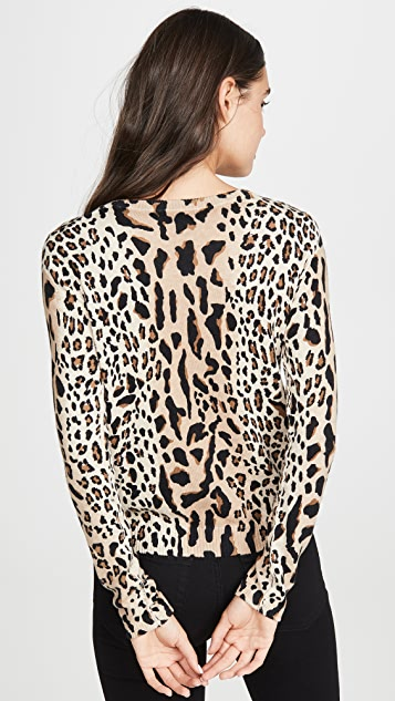 ATM Anthony Thomas Melillo Leopard Print Pullover