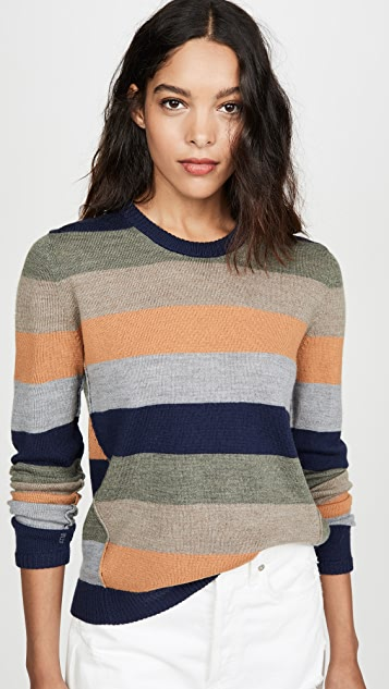 ATM Anthony Thomas Melillo Striped Crew Sweater