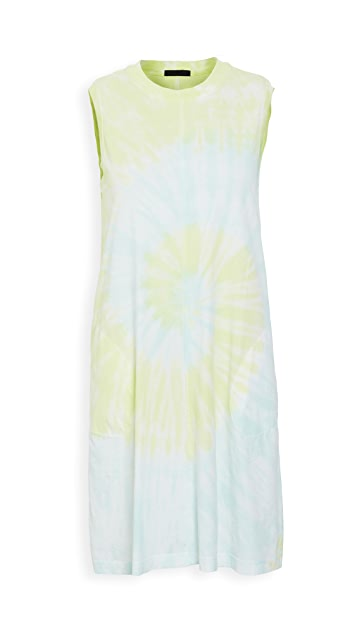 ATM Anthony Thomas Melillo Classic Jersey Tie Dye Dress
