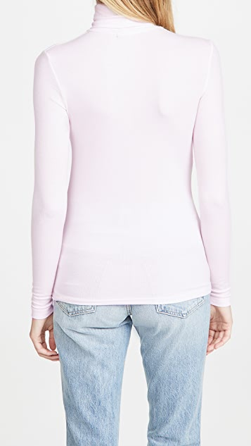ATM Anthony Thomas Melillo Micro Modal Rib Turtleneck