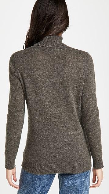 ATM Anthony Thomas Melillo Cashmere Long Sleeve Turtleneck Sweater