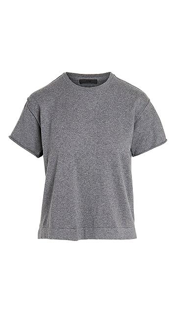 ATM Anthony Thomas Melillo 棉质开司米羊绒毛衣式 T 恤