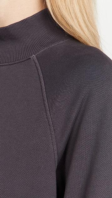 ATM Anthony Thomas Melillo French Terry Garment Wash Mock Neck Dress
