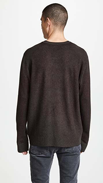 ATM Collection Wool Reverse Print Sweater