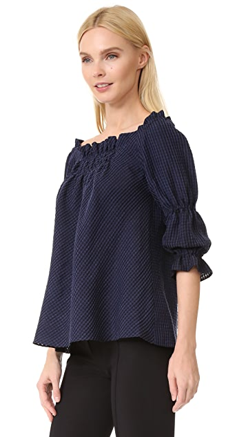 Amelia Toro A-Line Loose Fit Off Shoulder Blouse