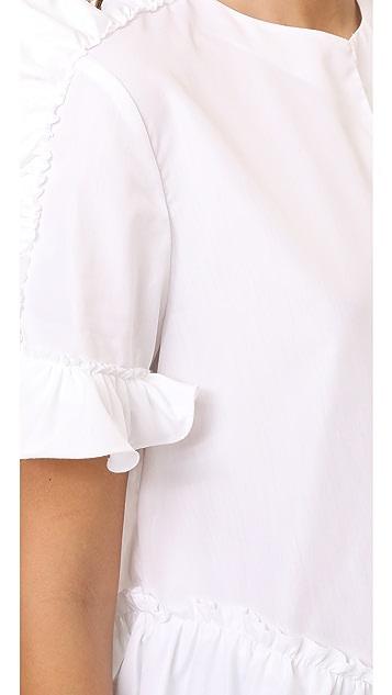 Amelia Toro Cotton Ruffle Blouse