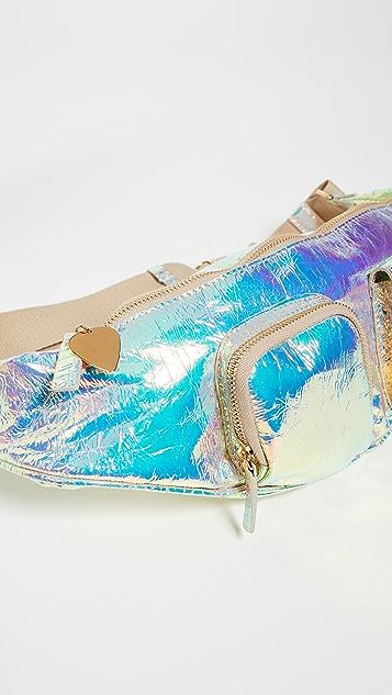 Avec La Troupe Hologram Belt Bag
