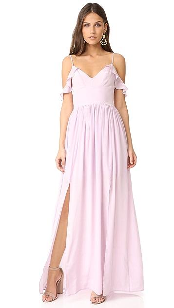 Amanda Uprichard Wren Maxi Dress - Lilac