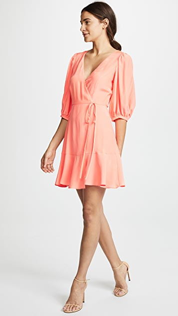 Amanda Uprichard Calico Dress - Guava