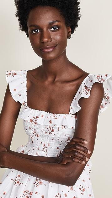 Amanda Uprichard Smocked Dress