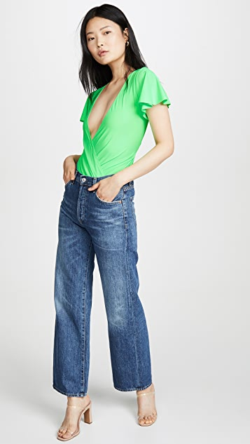 Amanda Uprichard Боди с трусиками-танга Elle