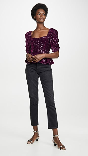 Amanda Uprichard Natasha Sequin Top