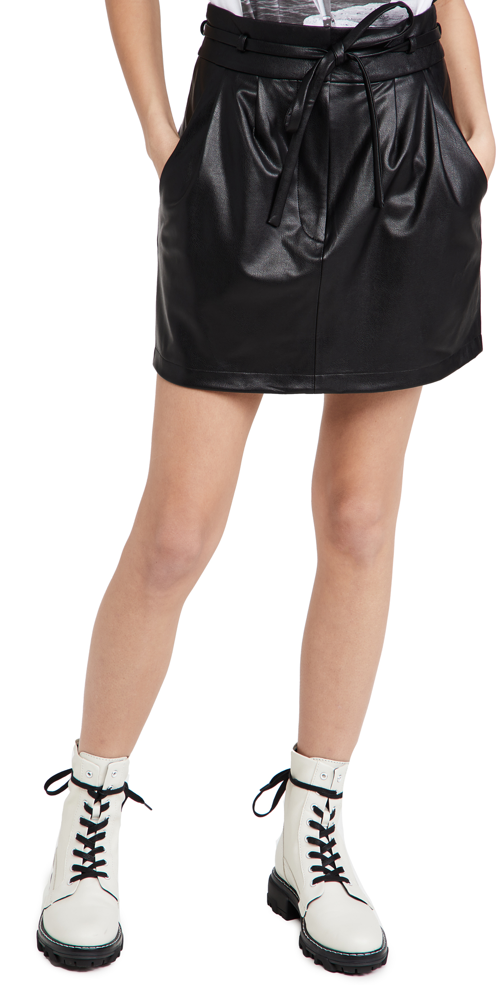 Amanda Uprichard Claire Faux Leather Skirt